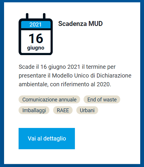 Proroga scadenza MUD 2021